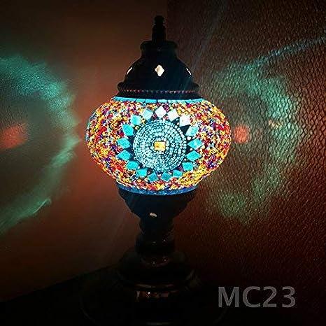 de TURQUÍA/Marroquí/Estilo Tiffany Cristal Escritorio Lámpara de ...