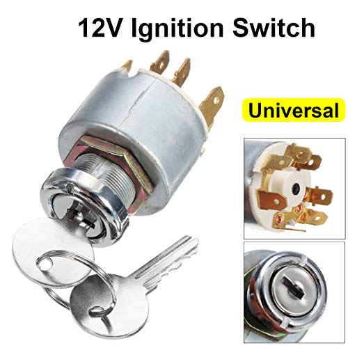 Transport-Accessories - 12V 4 Position Universal Car Boat Motorcycle Ignition Lock Cylinder Switch Control w/ 2 Keys For Lucas -