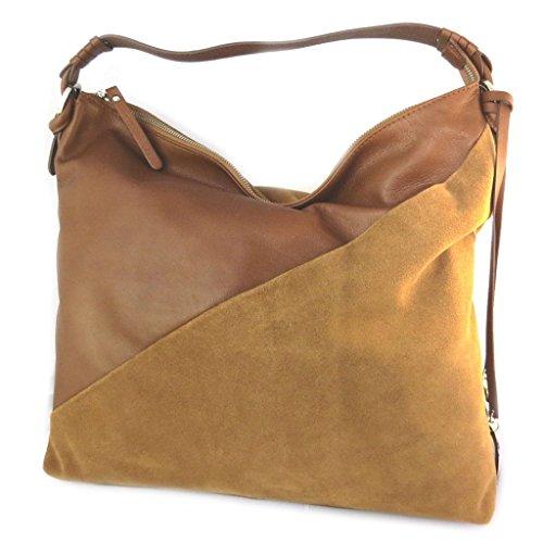 Bolsa de cuero 'Gianni Conti'camello - 38x35x11 cm.