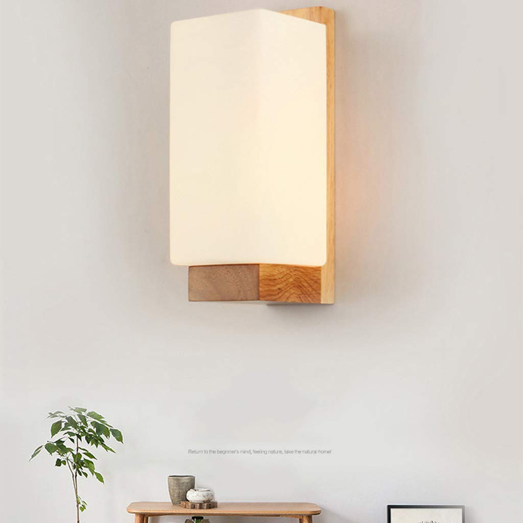 TYXHZL Schlafzimmer Nachtlampe Wand Lampe Nordic Wood Bed Scheinwerfer Korridor Gang Wand Lampe Zimmer Hotel Wand Lampe