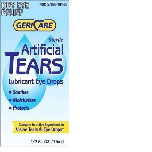 Gericare- Artificial lubricating Tears Dry Eye relief 0.5 OZ (PACK OF 3)