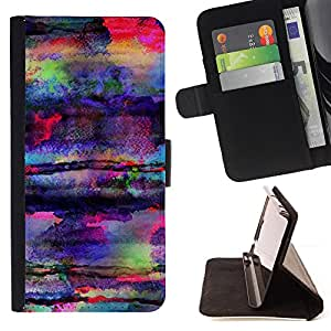 Jordan Colourful Shop - art colors psychedelic mushrooms For Apple Iphone 5 / 5S - Leather Case Absorci???¡¯???€????€????????&