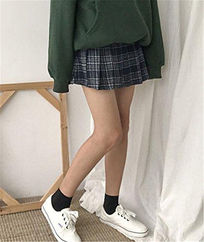 a Autunno Kilt Skirt Alta lana Donna Floreali Eleganti Plissettate Campana a JOTHIN Inverno College Grigio Gonne quadri 2017 Vita Minnie Yv6xU6E