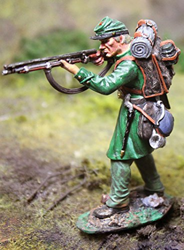 Civil War Toy Soldiers Union Berdan's Sharpshooters Infantry, Shooting Standing Figure Collectors Showcase Toy Soldiers Painted Metal Figure 54mm-56mm CS00789 Britains Type