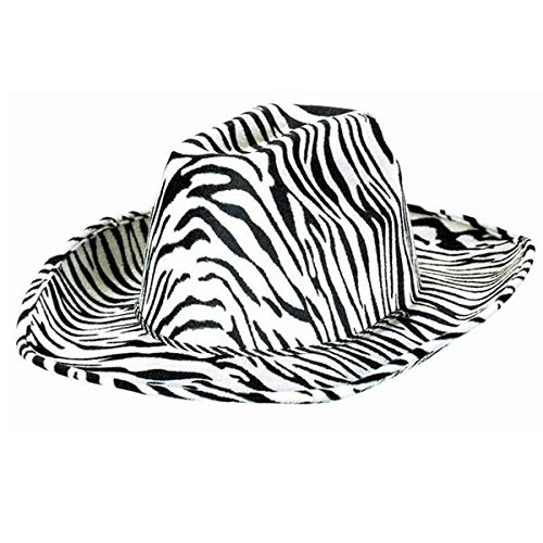 Awesone 80's Party Cowboy Hat Accessory, Black and White, Fabric , 5'' x 13'' by Amscan