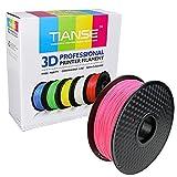TIANSE Fluorescent Pink PLA 3D Printer Filament 1.75mm 1KG Spool Filament for 3D Printing, Dimensional Accuracy +/- 0.03 mm