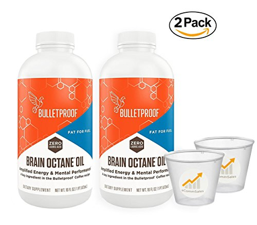 Bulletproof - Capacity Octane Oil, Reliable and Quick Source of Energy 16oz - 2 Pack (Including eCommSales Measuring Cup)