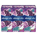 Always Radiant Feminine Pads with Wings for Women, Size 3, Extra Heavy Overnight, Light Clean Scent, 22 Count - Pack of 3 (66 Count Total)