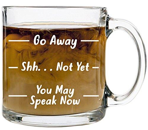 Funny Glass Coffee Mugs for Women and Men, 13oz –'Go...