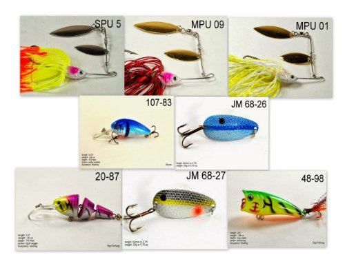 Akuna [MS] Pros' pick recommendation collection of lures for Bass, Panfish, Trout, Pike and Walleye fishing in Mississippi(Bass - Pro Bass Mississippi
