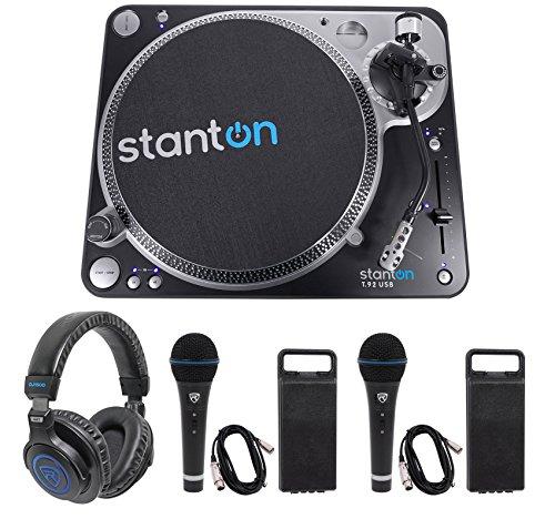Stanton T.92 M2 USB Direct-Drive S-arm USB DJ Turntable+Headphones+2 Microphones ()