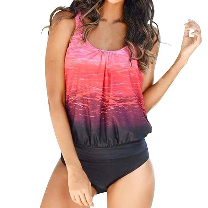 Amphia Mujer Traje De Bao Bikini, Sujetador Push-Up de Las Mujeres Traje de baño Bikini Talla Grande de la Playa Traje de baño Atractivo: Amazon.es: Ropa y ...