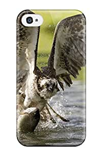Faddish Phone Catching Fishes Bird Animal Bird Case For Iphone 4/4s / Perfect Case Cover wangjiang maoyi by lolosakes