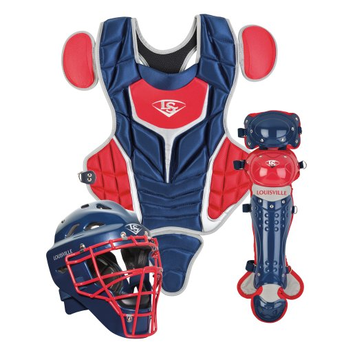 (Louisville Slugger Youth PG Series 5 Catchers Set, Navy/Scarlet)