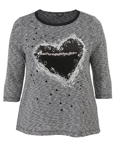 Via Appia Due - Camiseta - para mujer Schwarz / ecru