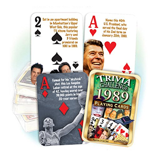 Flickback Media, Inc. 1989 Trivia Playing Cards: Happy 29th Birthday or Anniversary Gift by Flickback Media, Inc.