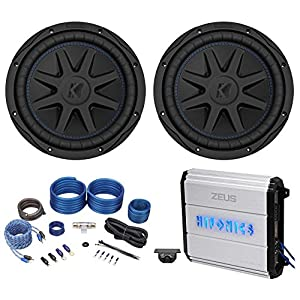 "(2) Kicker 44CVX102 Comp VX CVX 10"" 1200w Subwoofers+Hifonics Amplifier+Amp Kit"