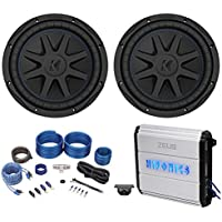 (2) Kicker 44CVX102 Comp VX CVX 10 1200w Subwoofers+Hifonics Amplifier+Amp Kit