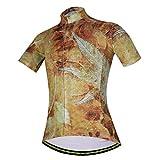 YIDUN Women's Bicycle Jersey Short Sleeve Reflective