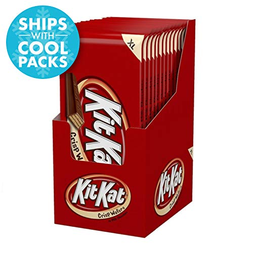 Kit Kat XL Crisp Wafers in Milk Chocolate, 4.5-Ounce (Pack of 12)]()