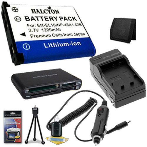LI-42B Lithium Ion Replacement Battery w/Charger + Memory Card Reader/Wallet + Deluxe Starter Kit for Olympus Stylus Tough TG-310, Tough 3000, Stylus 850, Stylus 5010, Stylus 7030, Stylus 7040, Stylus FE4030, VR310, VR320, VR330 DavisMAX Accessory Bundle by DavisMAX
