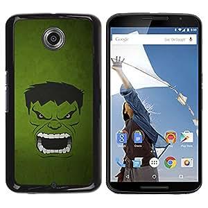 Motorola NEXUS 6 / Moto X / Moto X Pro , Radio-Star - Cáscara Funda Case Caso De Plástico (Green Monster)