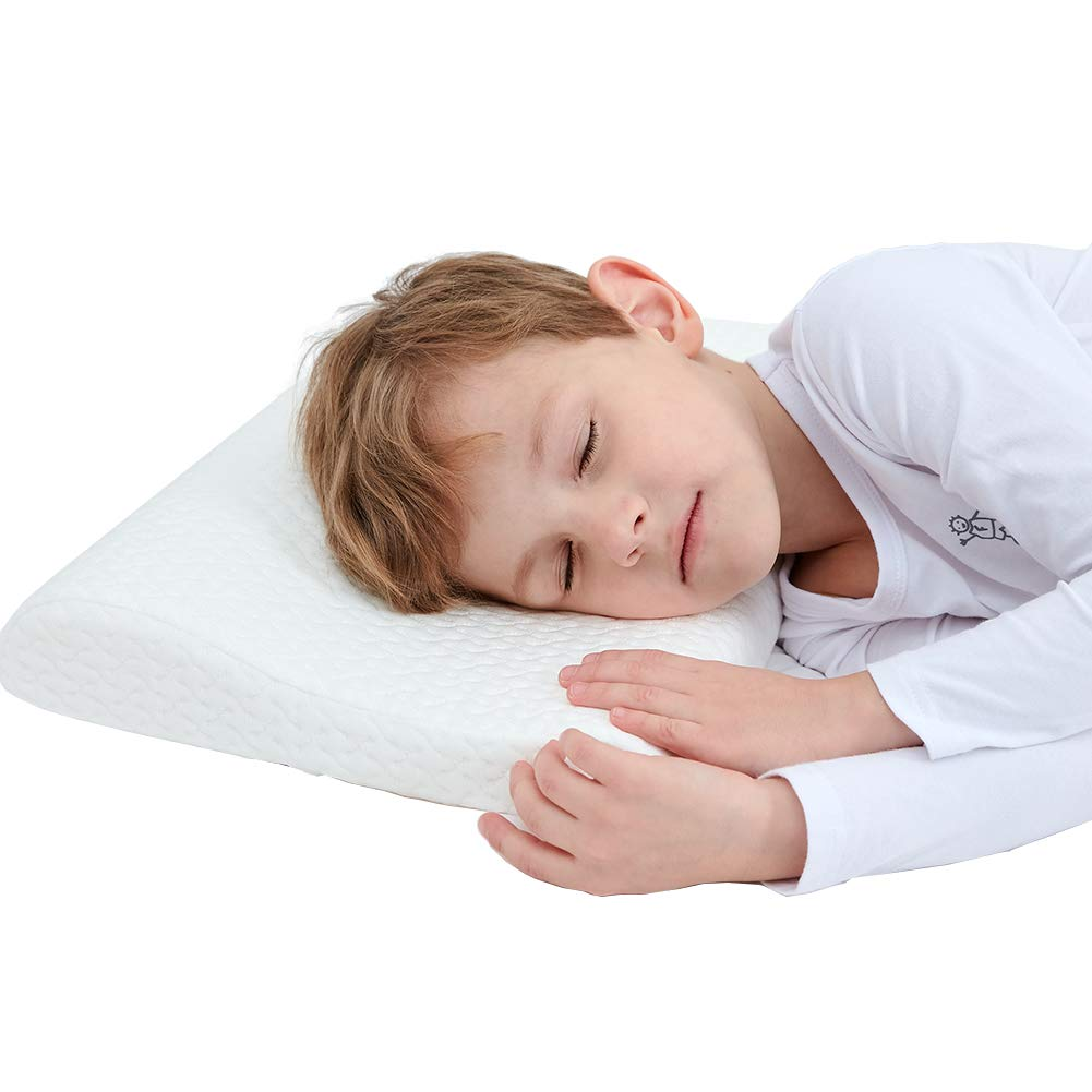 JSHANG Toddler Pillow, Memory Foam Baby Pillows for Sleeping Home House Breathable Kids Pillow with Removable Cover Provides Great Back & Neck Support-13 X 9, 0-1 Age