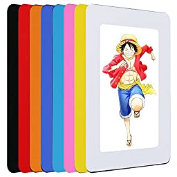 UCMD Magnet Photo Frame for Fridge 6 by 4 Inch Picture Frames Pack of 5 Pieces (orange, yellow, white, red, black)