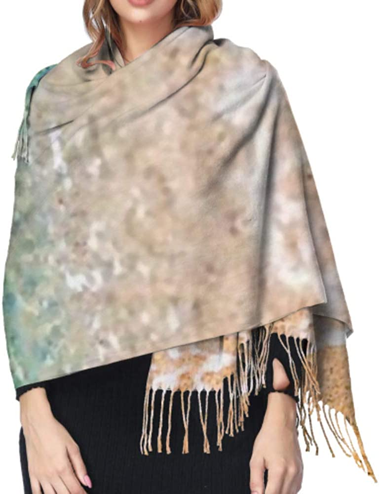 Foam Froth Sea Mediterranean Greece Long Large Warm Scarves Wrap Shawl Stole Classic Cashmere Feel Unisex Winter Scarf