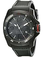 Tommy Hilfiger Mens 1790708 Analog Display Japan Movement Black Watch