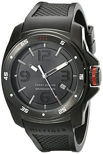 - Tommy Hilfiger Men's 1790708 Analog Display Japan Movement Black Watch