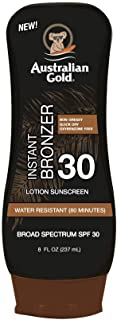product image for Australian Gold Sunscreen Lotion with Instant Bronzer SPF 30, 8 Ounce | Broad Spectrum | Water Resistant | Non-Greasy | Oxybenzone Free | Cruelty Free