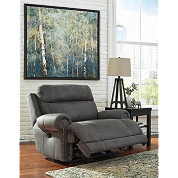 Ashley Furniture Signature Design Austere Power Oversized Recliner - Gray  sc 1 st  Amazon.com & Amazon.com: Ashley Furniture Signature Design - Zavier Oversized ... islam-shia.org