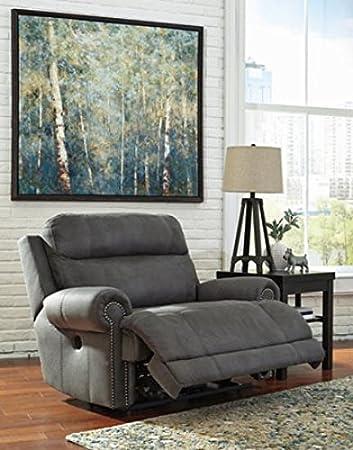 Ashley Furniture Signature Design Austere Power Oversized Recliner   Gray