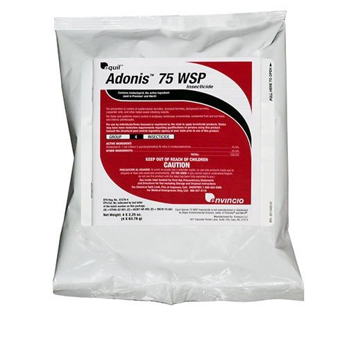 Adonis 75 WSP contains Imidacloprid, Termiticide / Insecticide (Box, 4 pk of 4/2.25 oz WSP pks), the same active ingredient used in premise and merit.