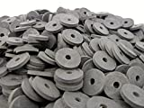 (100) Heavy Duty Abrasion Resistant Rubber Washers | 1'' OD X 1/4'' ID X 1/8 inch SBR Rubber Washers 70 Duro
