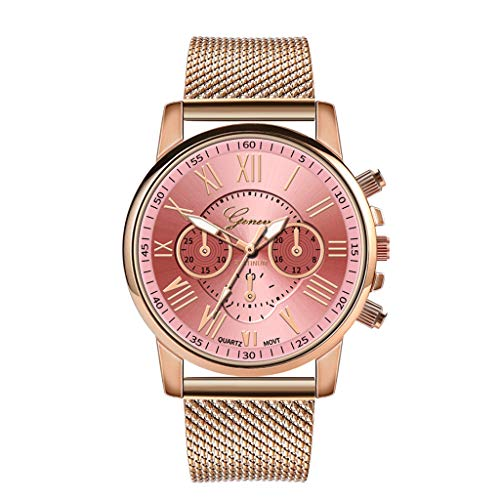 Pocciol Fashion Military Stainless Steel Quartz Watch Womens Casual Watch Luxury Analog Wristwatch (Pink) by Pocciol Cheap-Nice Watch (Image #9)
