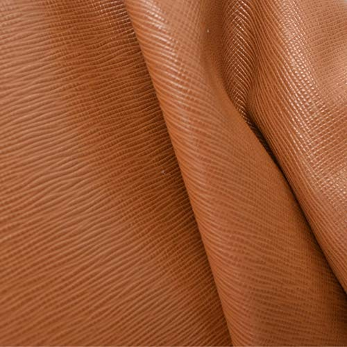 The Leather Guy - Fashion Leather Cow Hide 8.3 SqFt Chewy Caramel 3 1/2-4 oz Saffiano Embossed - ()