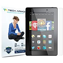 "Kindle Fire HD 6"" Screen Protector, Tech Armor Anti-Glare/Fingerprint Amazon Kindle Fire HD 6"" (Original / Kids) Film Screen Protector [3-Pack]"