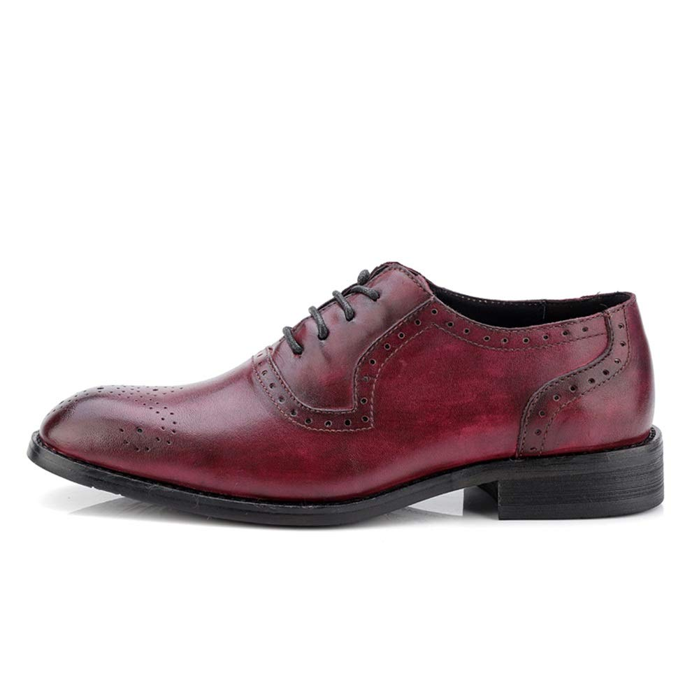 Sunny&Baby Men's Business Oxford Casual and Classic Color and Casual Carved Breathable Brogue Shoes Abrasion Resistant (Color : Wine, Size : 10 D(M) US) 10 D(M) US|Wine B07J9ZRGKV 34e32e