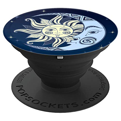 Celestial Mosaic Sun Moon - PopSockets Grip and Stand for Phones and Tablets