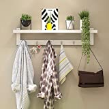 Wall Shelf Hanging Hanger Sleeve Hood Hook Door Storage Wall Storage Tower White ( Color : 87cm(6 hook) )
