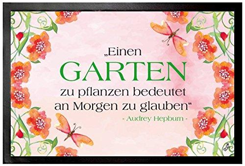 Audrey Hepburn Door Mat Floor Mat - Einen Garten Zu Pflanzen Bedeutet An Morgen Zu Glauben (24 x 16 inches)