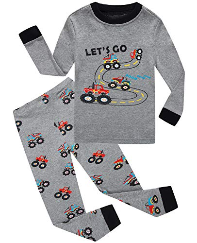 Monster Pajamas Toddlers (Dolphin&Fish Boys Pajamas Car Kids Pjs 100% Cotton Toddler Clothes Children Sleepwear Shirts Size)