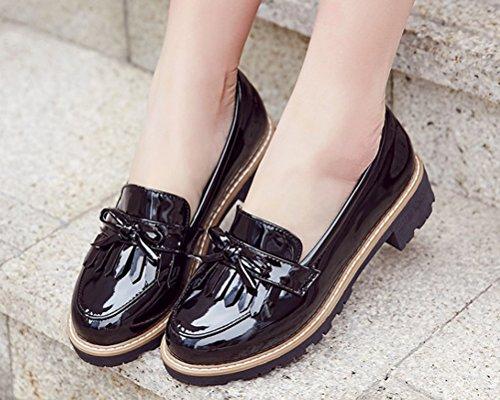 Women's Cute Tassels Waterproof Loafers School Teens Girls Oxfords Dress  Flats Shoes Size 2-8.5- Buy Online in India at desertcart.in. ProductId :  62183107.