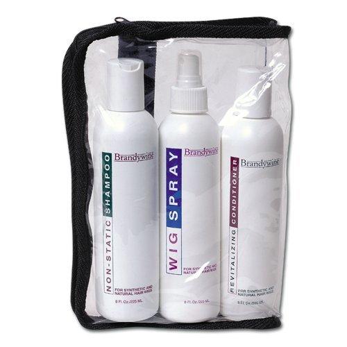 Brandywine Maintenance Kit, Non-Static Shampoo, Revitalizing Conditioner & Wig Spray 8 oz. each