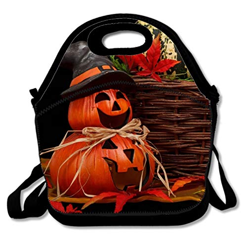 FONDTHEE Insulated Lunch Bag for Women Holiday Halloween 31 October Pumpkin Host Cooler Lunch Box for Girls Waterproof Lunch Tote Bag for -