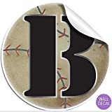 "Wall Decals Letter "" B "" Baseball Baby Name Decal"