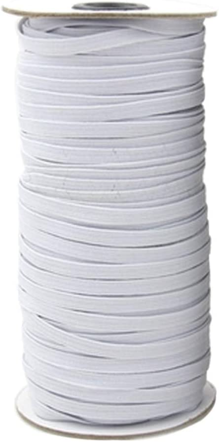 TOYANDONA 10M x 6mm Braided Elastic Cord//Elastic Band//Elastic Rope//Bungee//White Heavy Stretch Knit Elastic Spool Black
