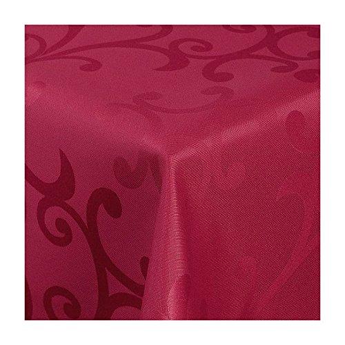 TEXMAXX Damast Tischdecke Maßanfertigung im Milano-Design in weiß 150x300 cm eckig, weitere Längen und Farben wählbar B00T2UFBMQ Tischdecken